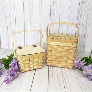 Pair of Vintage Farmhouse Decor Kitchen Baskets